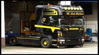 Scania R500 in opbouw voor M. den Butter