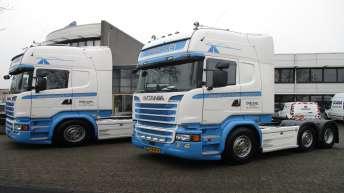 2x Scania R520 voor Verbruggen