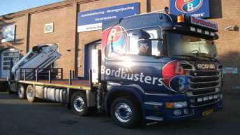 Scania R560 voor Bordbusters