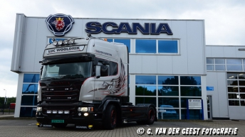 Scania R580 Silver Griffin voor Luc Wooldrik