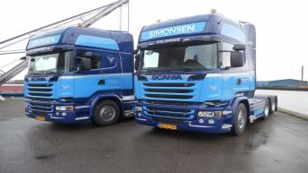 Twee Scania R520'ers voor Erik Simonsen & Son (DK)