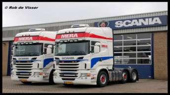 Twee nieuwe Scania R500's voor Mera