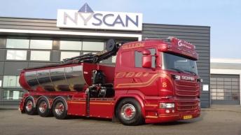 Scania R520 voor Vallem Maskintransport (DK)