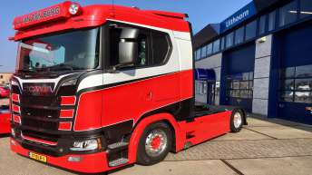 Scania S520 voor Arjan van den Berg Transport