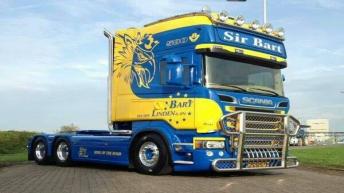 Scania R580 voor Bart van der Linden & Zn.