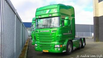 Twee Scania R500 trekkers voor Hebra
