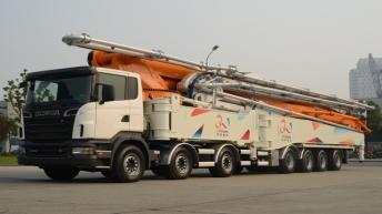 Scania R620 7-asser voor Zoomlion