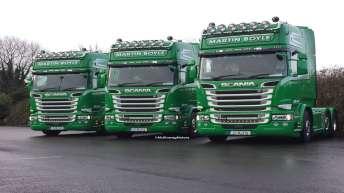 3x Scania R580 voor Martin Boyle (IRL)