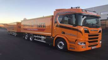 Scania R580 voor Erik Schjerpen Transport (NO)