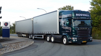 Scania R580 voor Rosvall Transport (DK)