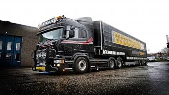Scania V8 R730 - Rykkje Transports uit Noorwegen