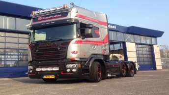 Scania V8 R580 Silver Griffin 096/100 - Broeren Transport