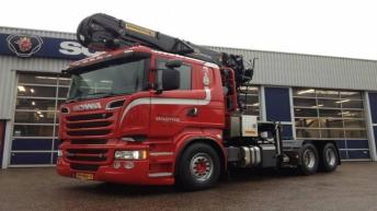 Scania R560 voor Bert Wagtho Houttransport