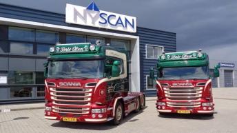 Twee Scania R580 trekkers voor Brdr Olsen (DK)