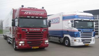 Eerste Scanias met 730 pk afgeleverd bij de vestiging Alblasserdam
