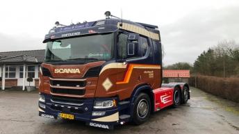 Nieuwe Scania R580 voor Allan & Jesper (DK)