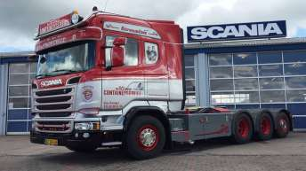 Scania R580 voor Kims Containerservice (DK)