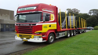 Scania R580 voor Auning Transport