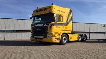 Scania R520 voor Tiru Transport