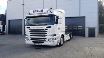 Scania R580 voor Sørum Transport AS (N)