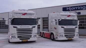 2x Scania R520 voor Vendelbo Spedition (DK)