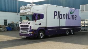 Scania r-serie motorwagen in opbouw voor Plantline