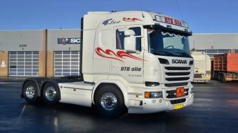 Scania R580 voor BTB Olie (DK)