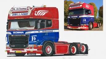 Ontwerp Scania R500 Rik Schoonus