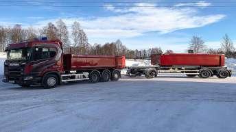 Scania R650 voor Gudmundssons Kross & Åkeri AB i Sälen