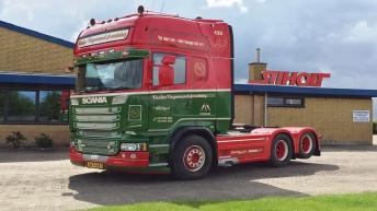 Scania R580 voor Vesløs Vognmandsforretning (DK)