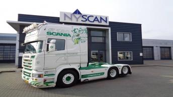 Scania R580 voor Hvidovre Transport (DK)