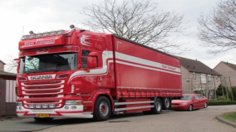 Scania R500 motorwagen voor Stam Transport
