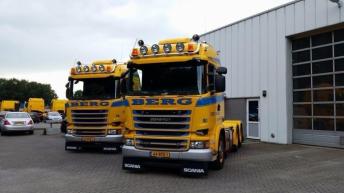 Twee Scania R520 trekkers voor Berg