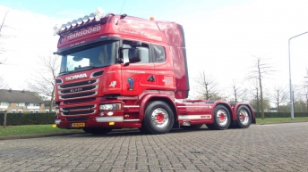 Scania R580 voor Transoord
