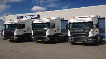 Drie Scania R520 trekkers voor Lars R Jacobsen (DK)