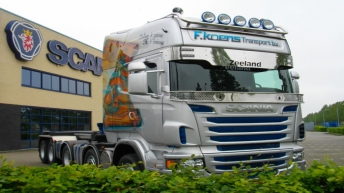 Scania R560 voor Koens Transport Bv.