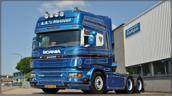 Scania R730 voor A.A. v/d Heuvel
