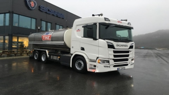 Scania R520 voor Tine SA (NO)