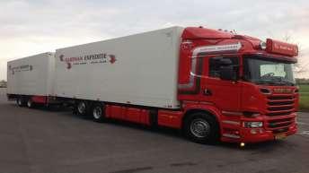 Scania R520 voor Hartman Expeditie