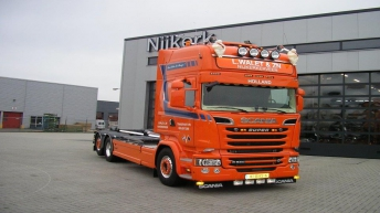 Scania R580 voor L. Walet & Zn.