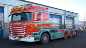 Scania R580 motorwagen voor AG Lagercenter