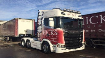 Scania S520 voor Hicks Logistics