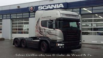 Scania R580 Silver Griffin voor Gebr. de Waard & Pa