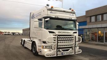 Scania R580 voor Kjell Hansen Shipping (NO)