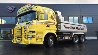 Scania R580 voor Nordbø Maskin As (NO)