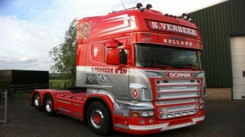 Scania R620 S. Verbeek in nieuwe stijl