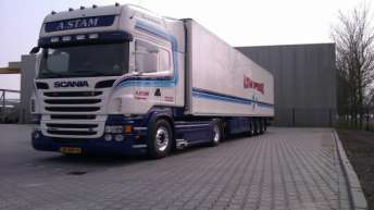 Scania R500 voor A. Stam uit Opperdoes