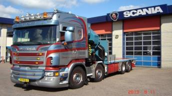 Scania R500 voor Brouwer Zwaartransport