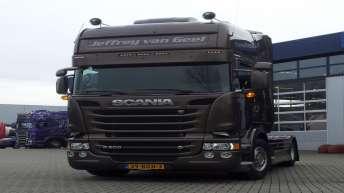 Scania R500 voor Jeffrey van Geel