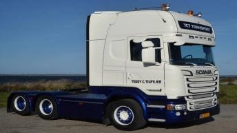Scania R580 voor TCT Transport (DK)